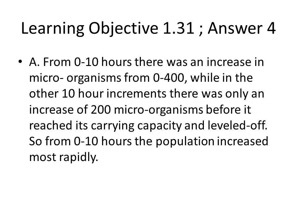 Learning Objective 1.31 ; Answer 4