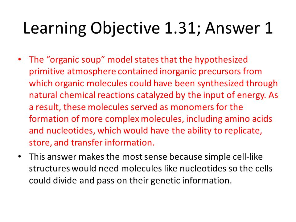 Learning Objective 1.31; Answer 1