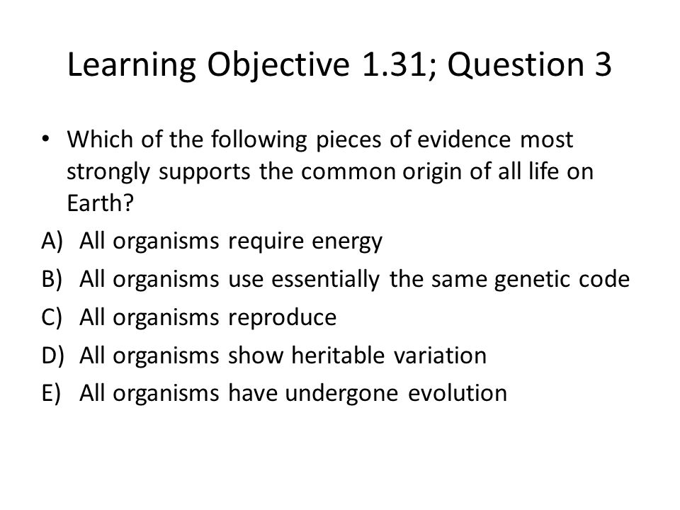 Learning Objective 1.31; Question 3