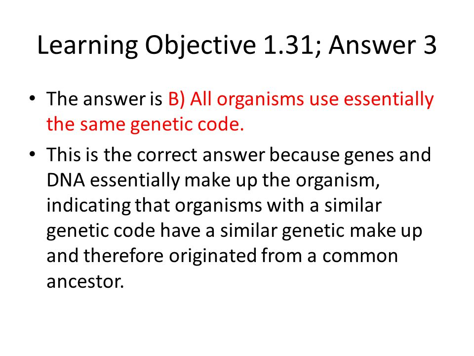 Learning Objective 1.31; Answer 3