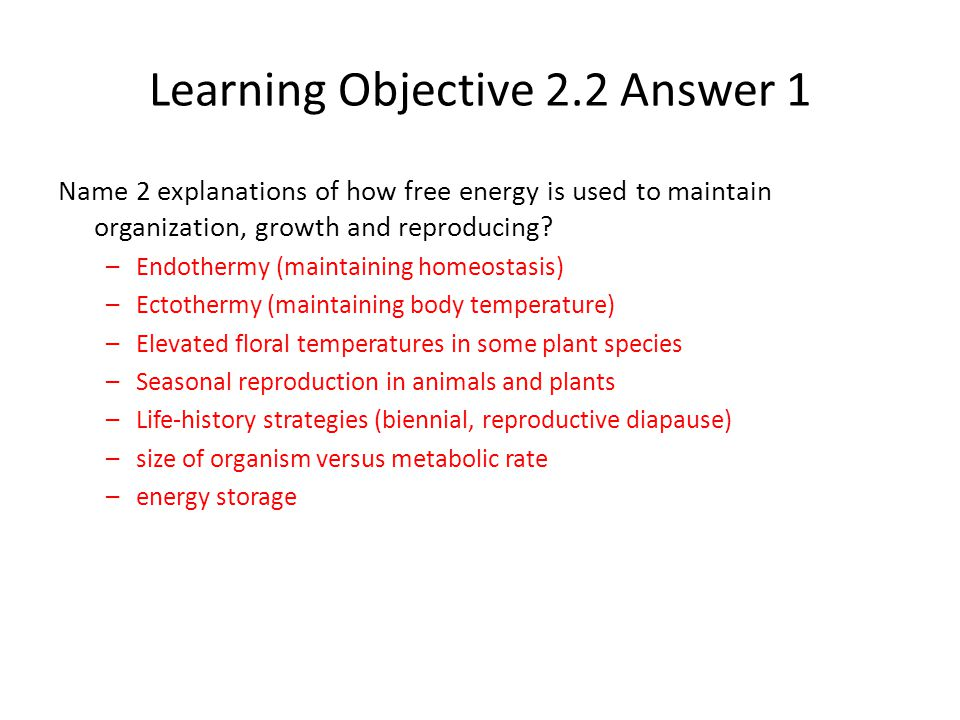 Learning Objective 2.2 Answer 1