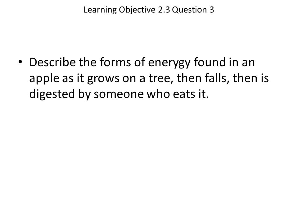 Learning Objective 2.3 Question 3
