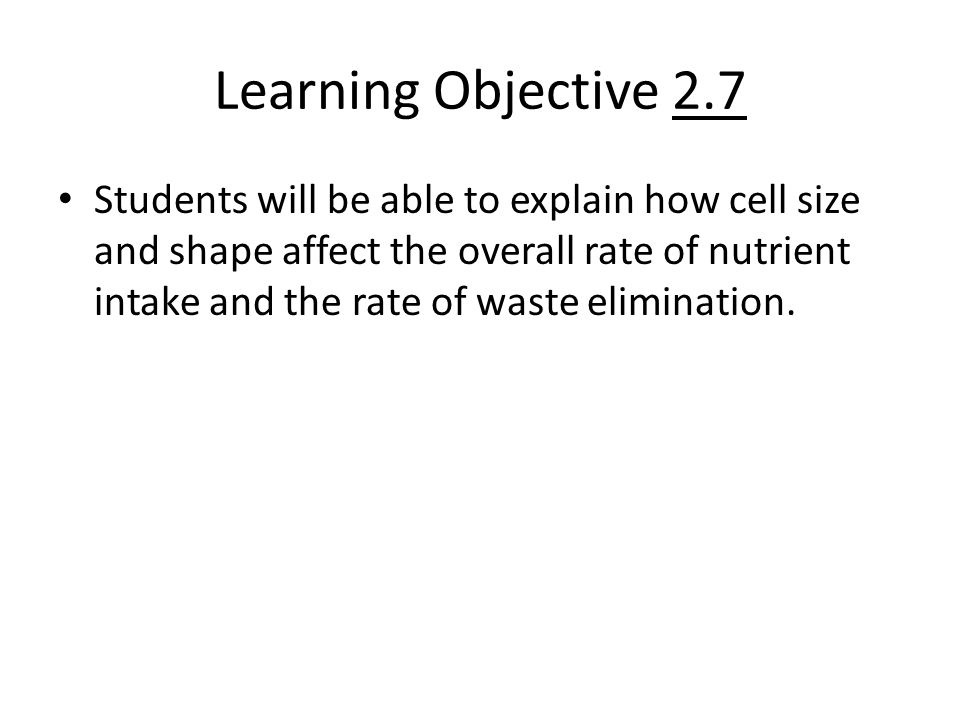 Learning Objective 2.7