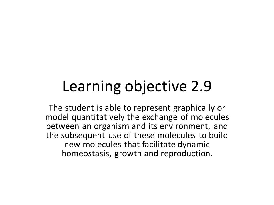 Learning objective 2.9