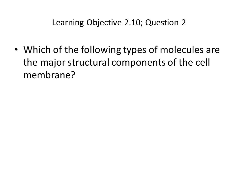 Learning Objective 2.10; Question 2