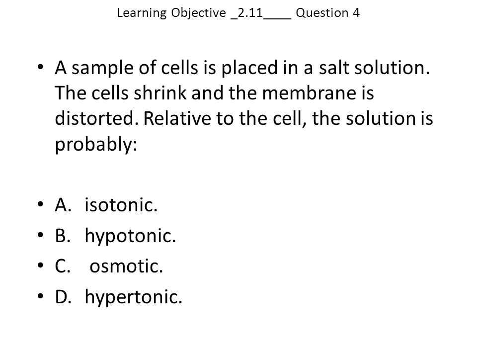 Learning Objective _2.11____ Question 4