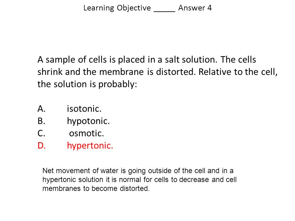 Learning Objective _____ Answer 4