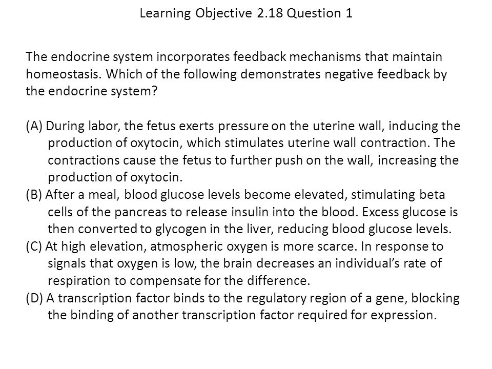 Learning Objective 2.18 Question 1