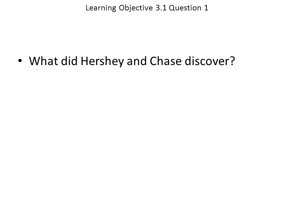 Learning Objective 3.1 Question 1