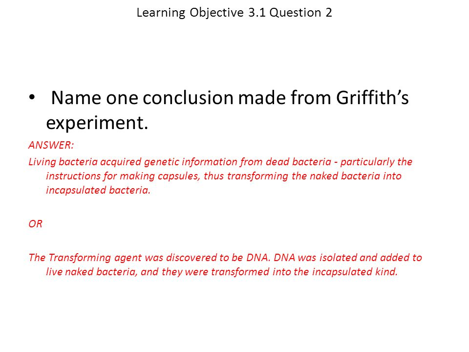 Learning Objective 3.1 Question 2