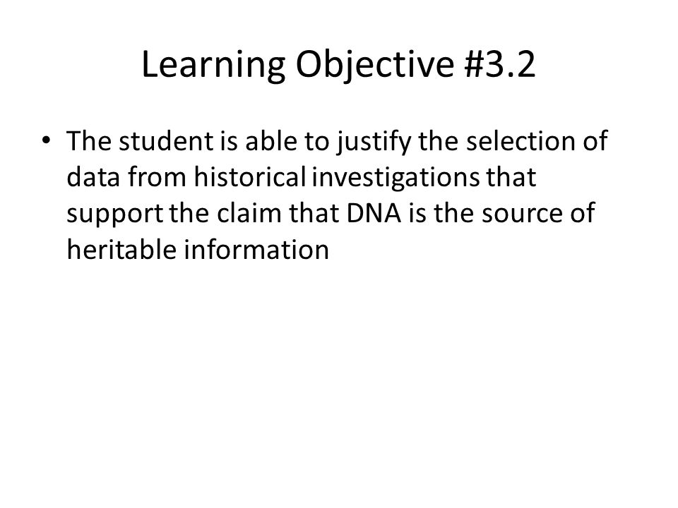 Learning Objective #3.2
