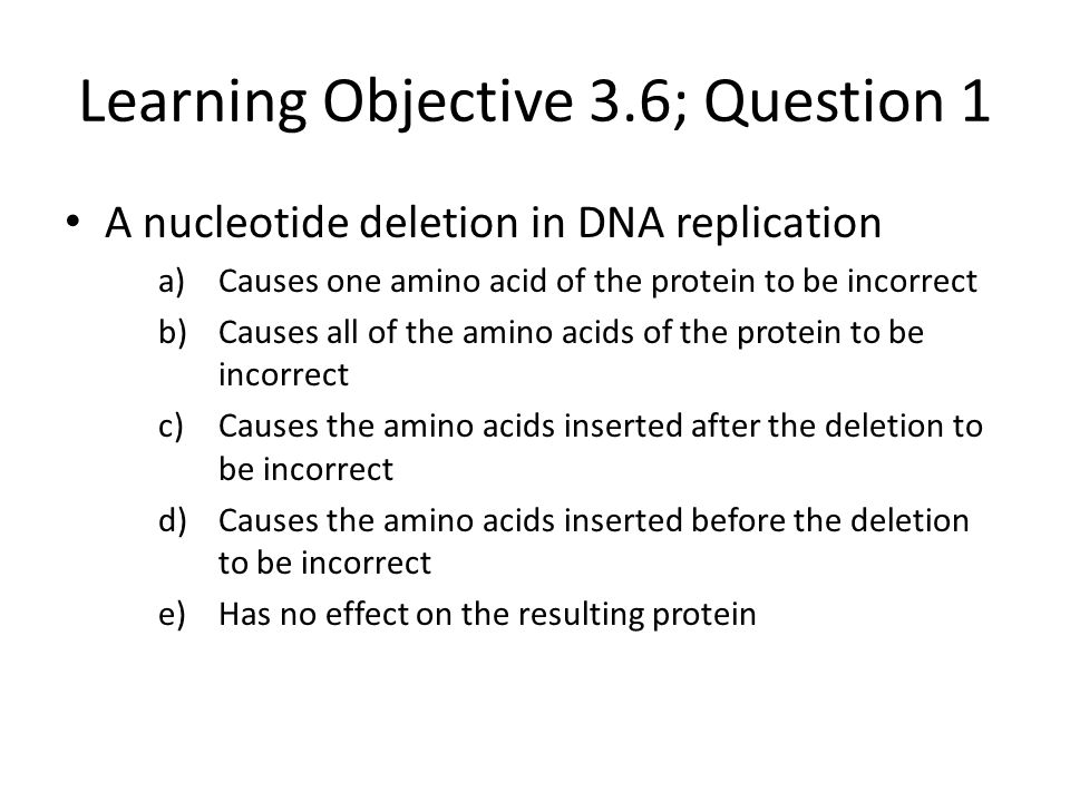 Learning Objective 3.6; Question 1