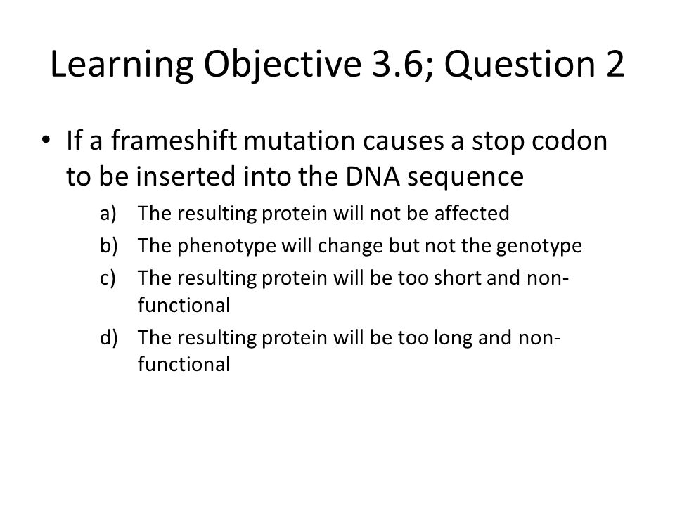 Learning Objective 3.6; Question 2