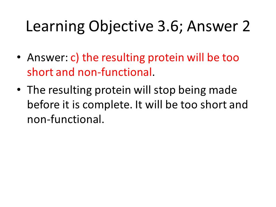 Learning Objective 3.6; Answer 2