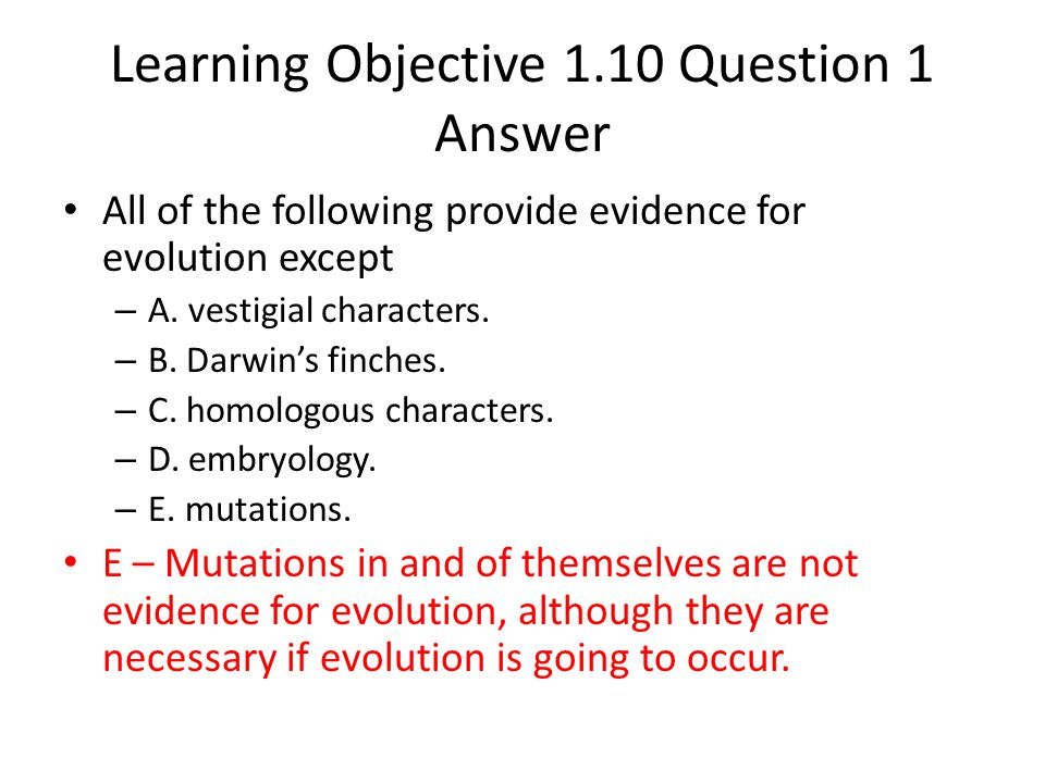 Learning Objective 1.10 Question 1 Answer