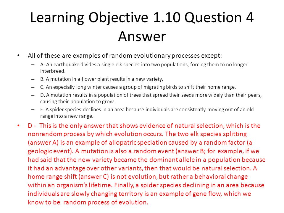 Learning Objective 1.10 Question 4 Answer