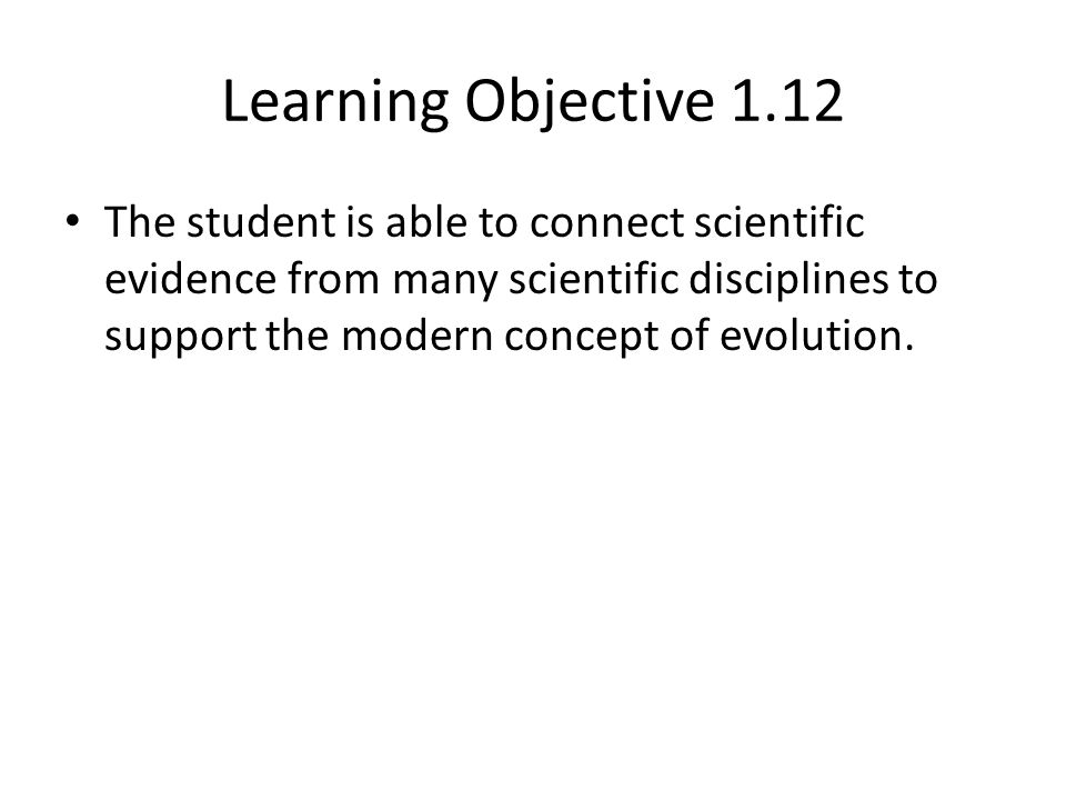 Learning Objective 1.12