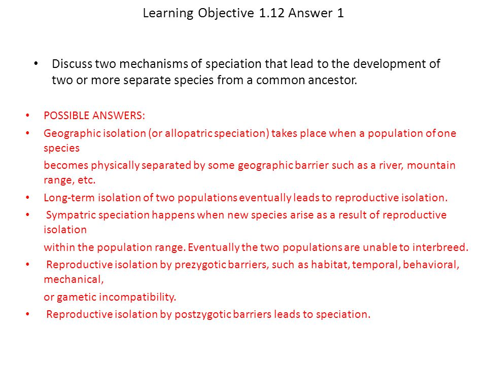 Learning Objective 1.12 Answer 1