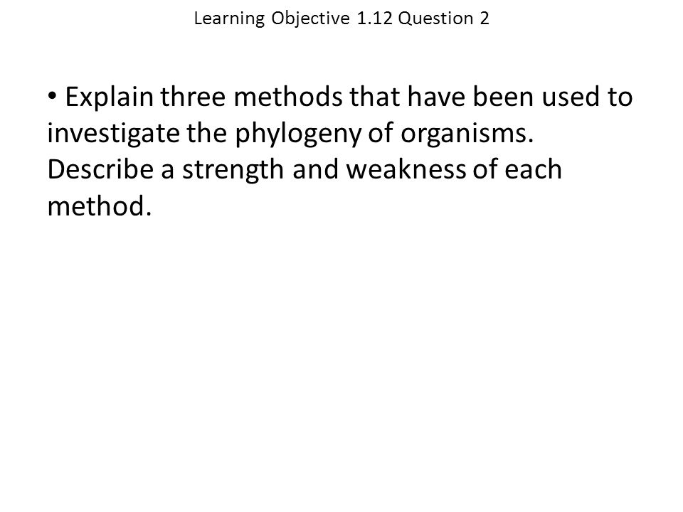 Learning Objective 1.12 Question 2