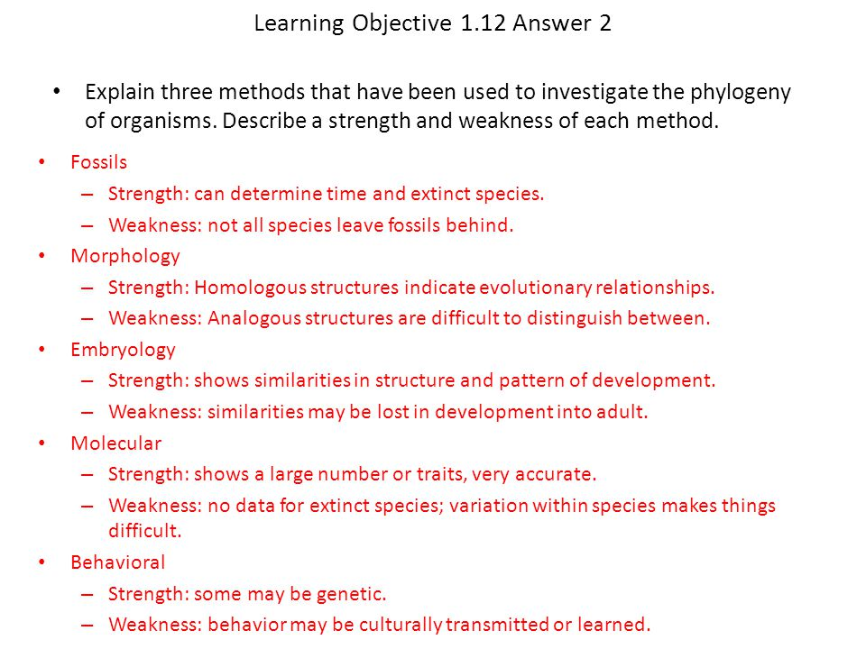 Learning Objective 1.12 Answer 2