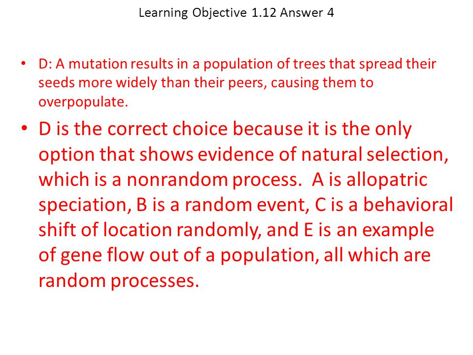 Learning Objective 1.12 Answer 4