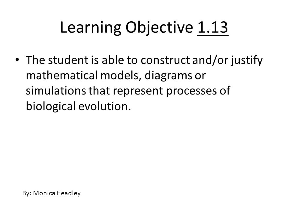 Learning Objective 1.13