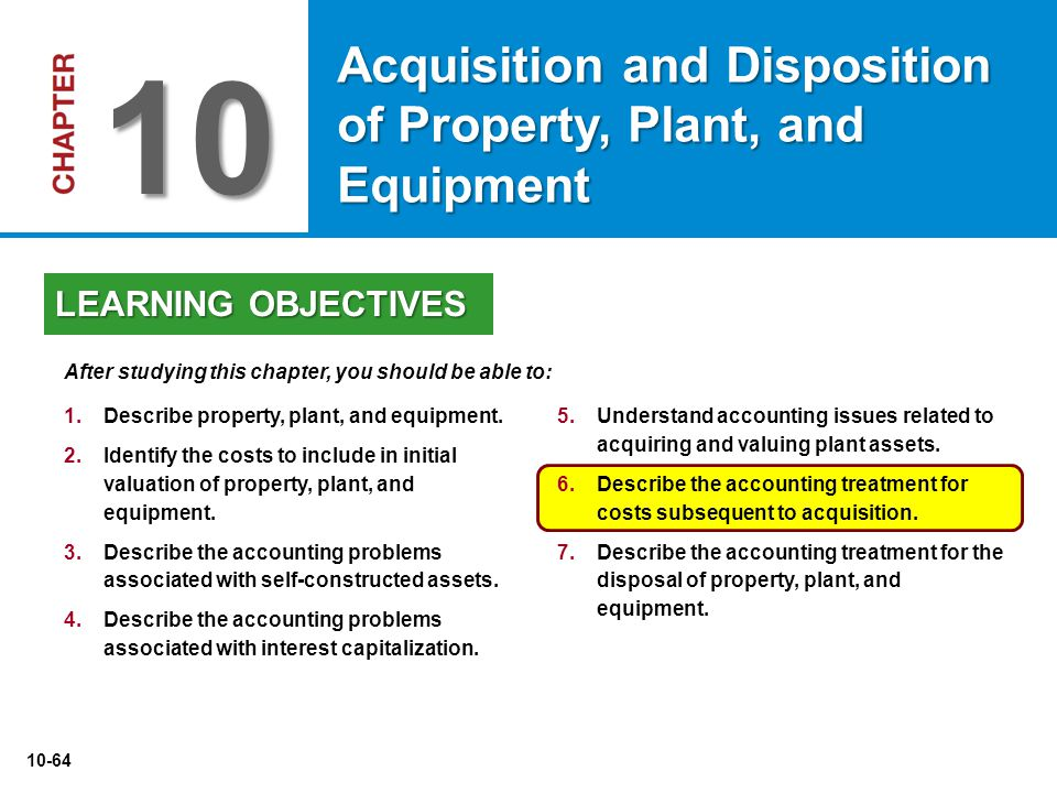 10 Acquisition and Disposition of Property, Plant, and Equipment
