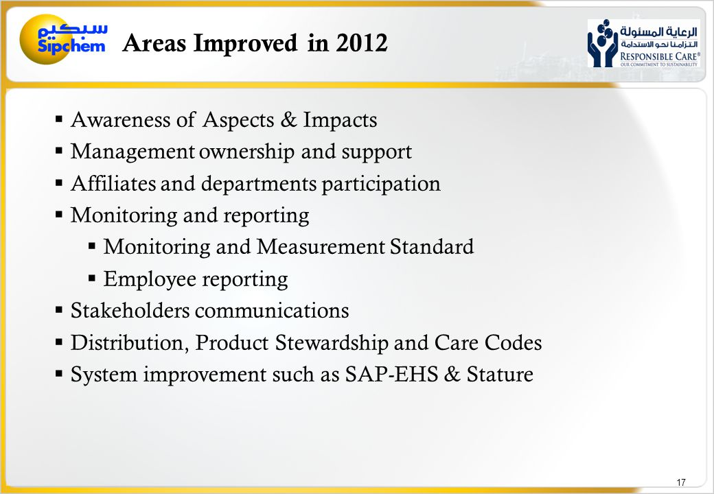 Focus Areas for 2013 Cascading of objectives/targets and action planning by functional areas.