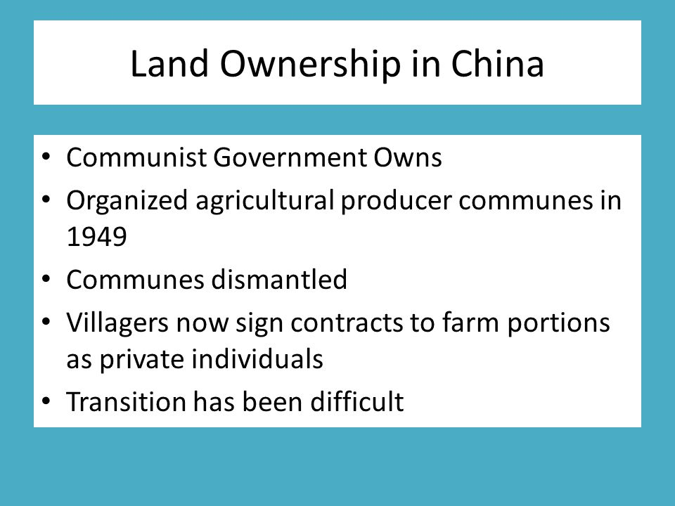 Land Ownership in China