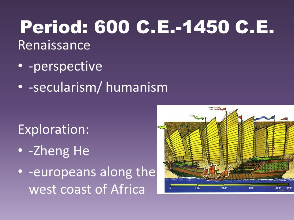 Period: 600 C.E.-1450 C.E. Renaissance -perspective