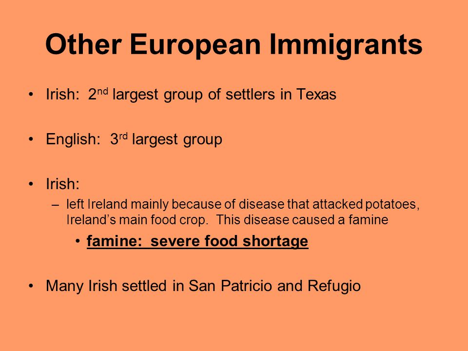 Other European Immigrants