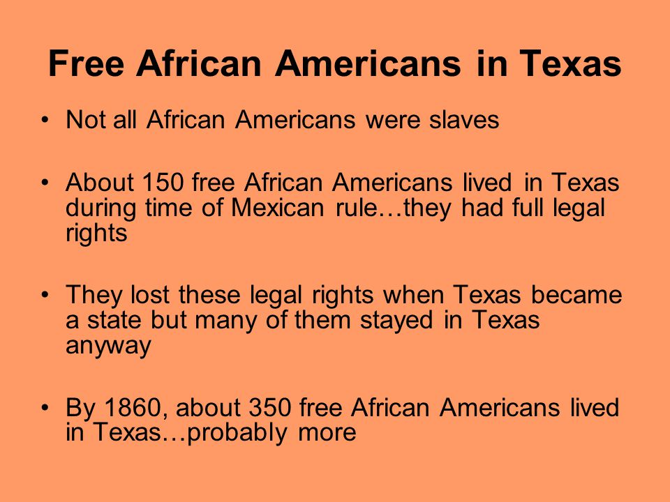 Free African Americans in Texas