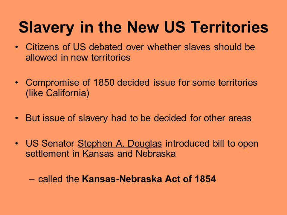 Slavery in the New US Territories
