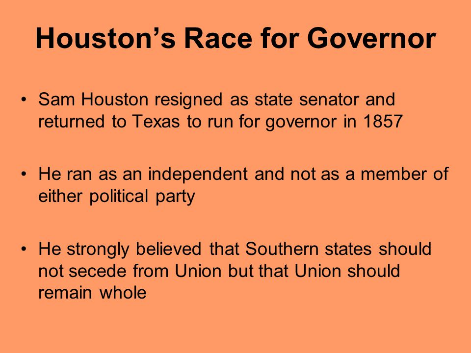 Houston's Race for Governor