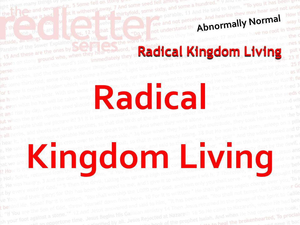 Radical Kingdom Living