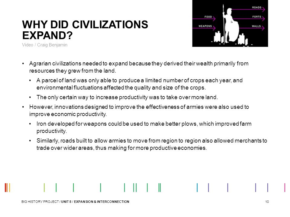 WHY DID CIVILIZATIONS EXPAND