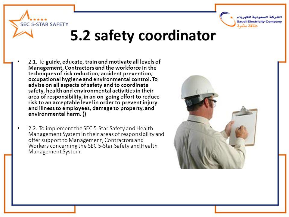 5.2 safety coordinator