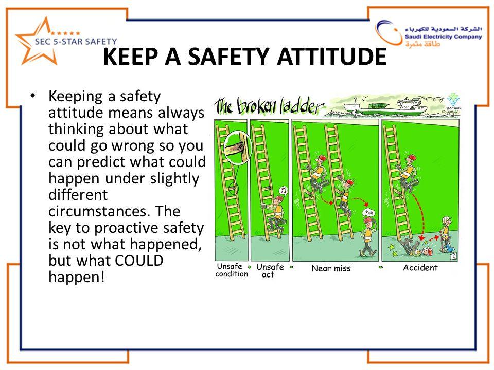 KEEP A SAFETY ATTITUDE