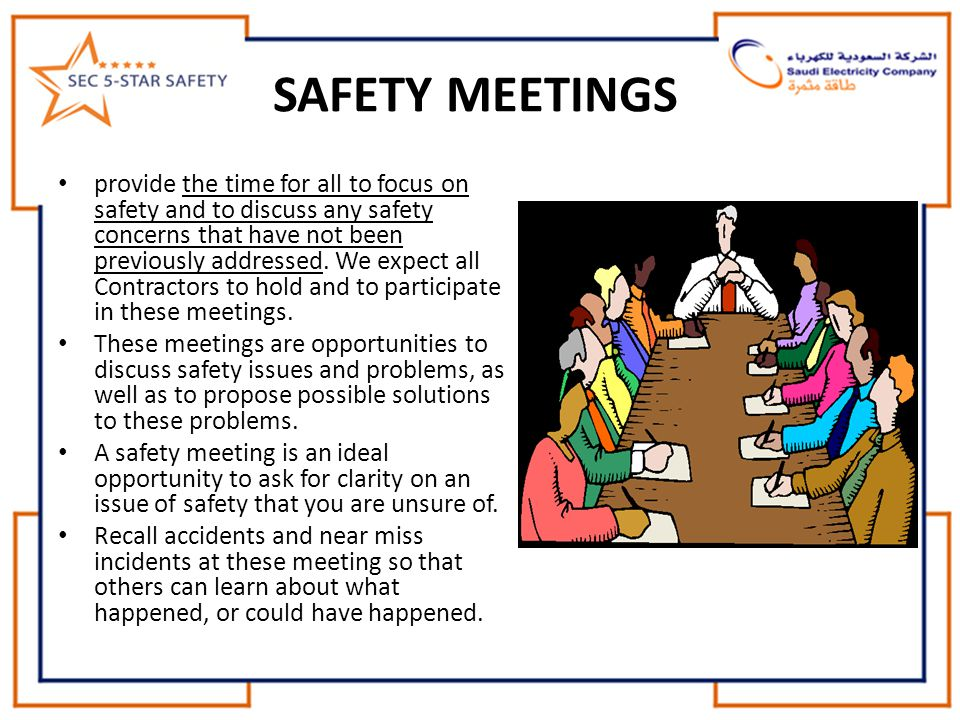 SAFETY MEETINGS