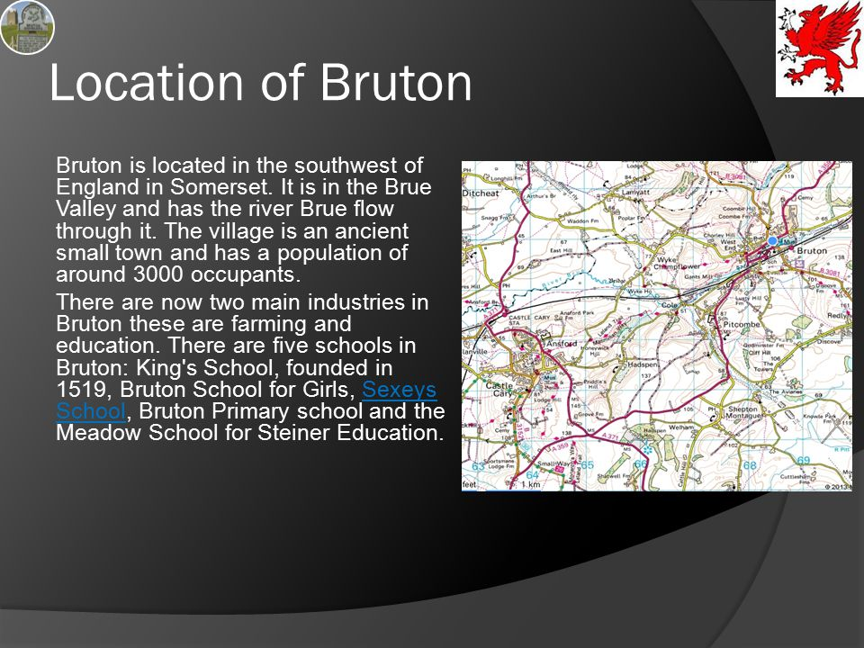 Location of Bruton