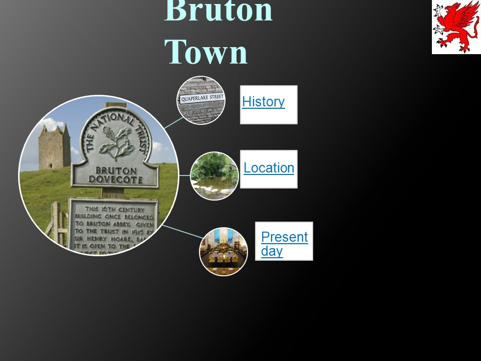 Bruton Town History. Location. Present day.