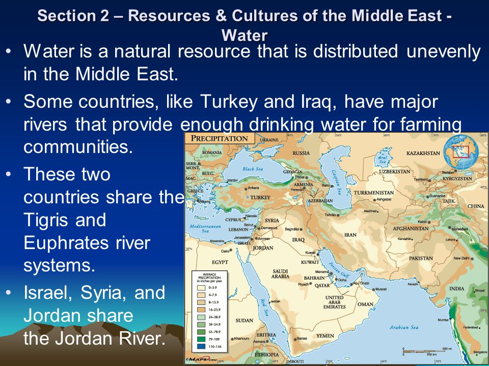 Section 2 – Resources & Cultures of the Middle East - Water