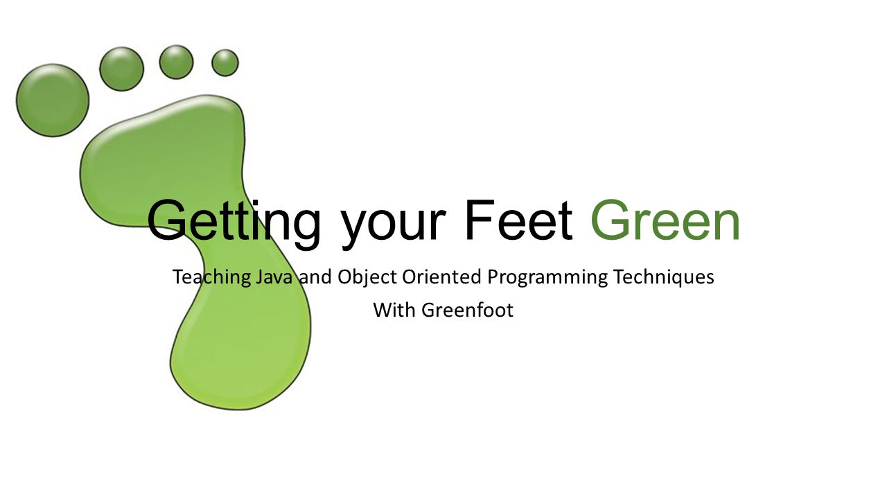 Getting your Feet Green