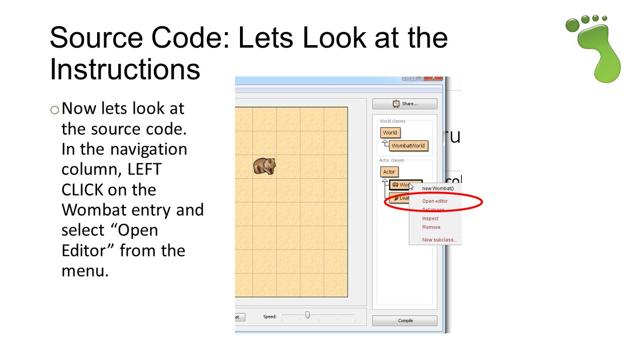 Source Code: Lets Look at the Instructions