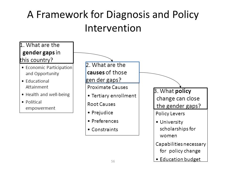 A Framework for Diagnosis and Policy Intervention