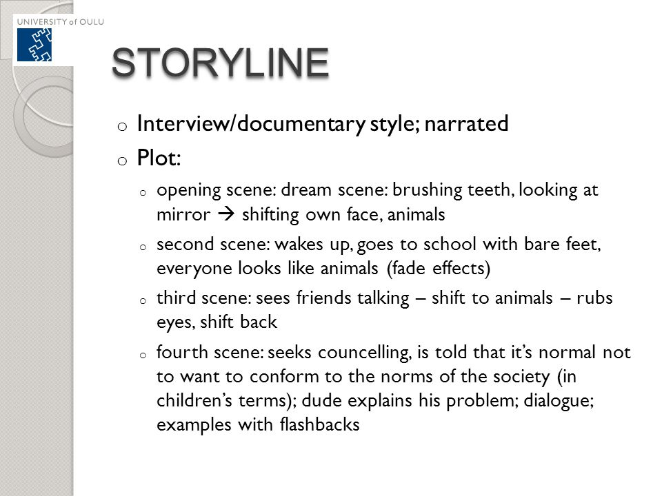 STORYLINE Interview/documentary style; narrated Plot:
