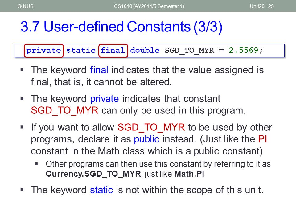 3.7 User-defined Constants (3/3)