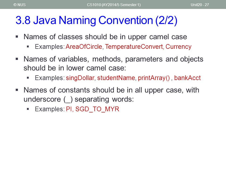3.8 Java Naming Convention (2/2)