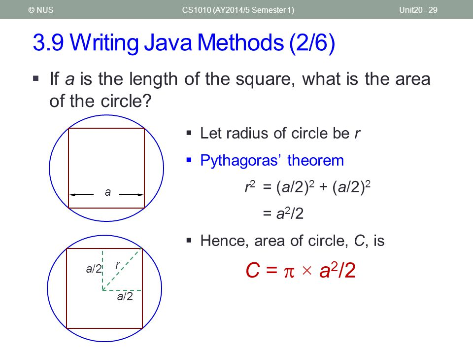 3.9 Writing Java Methods (2/6)