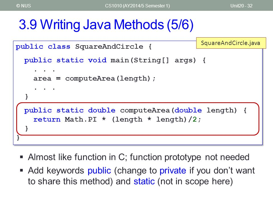3.9 Writing Java Methods (5/6)